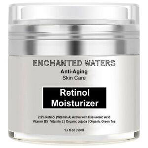 Retinol Moisturizer Night Cream in Hyaluronic Acid- Face Neck Eye Organic Lotion