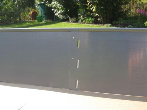 Rasenkante  L 1000 mm x H 180 mm 1 mm  stark mit spezieller Alu-Zink-Legierung