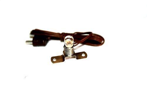 KE-059 E 5,5 Krippenzubehör Krippenbeleuchtung 3,5V Metallstegfassung