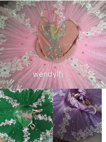 Adult Professional Ballet Tutu Dance Dress Purple Lilac Rose Classic Costume