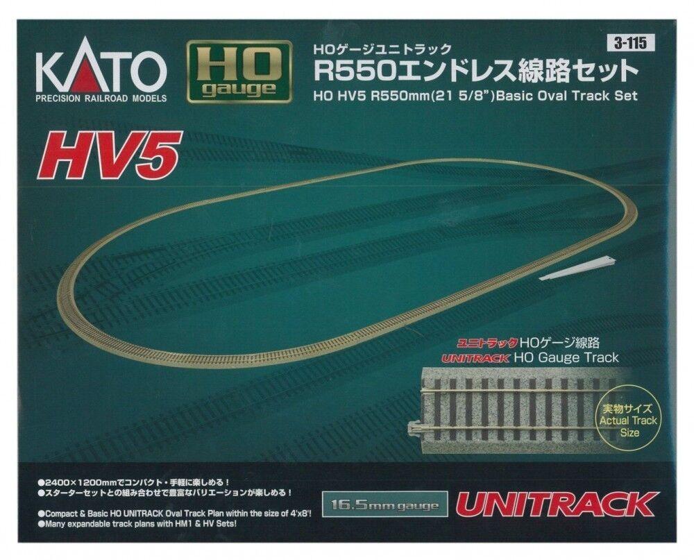 Kato HO 3115 HV5 R550mm 21 58 di Base Ovale Pista Set Giappone FS S0863