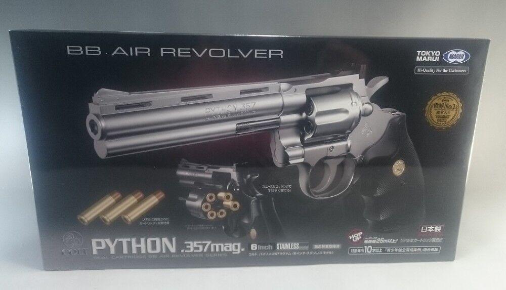 Tokyo Marui Colt Python 357 Magnum Stainless Model Air soft Hand Gun 6 inches