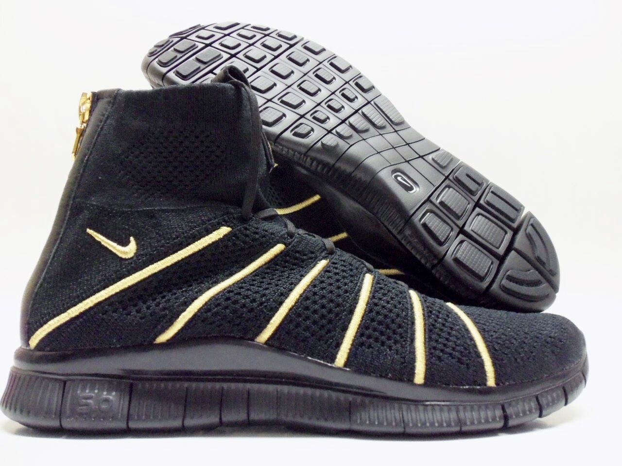 NIKE FREE FK MERCURIAL OR OLIVIER ROUSTEING BLACK/GOLD SZ MEN'S 9.5 [834906-007]