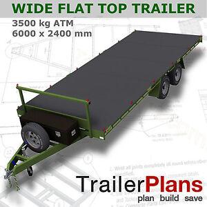 Trailer-Plans-6m-FLAT-TOP-TRAILER-PLANS-PLANS-ON-CD-ROM-Flatbed-Car-Trailer