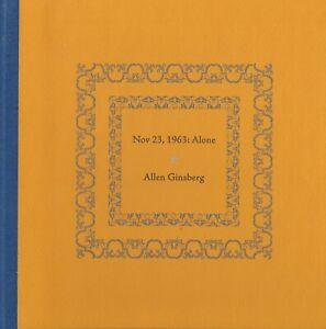ALLEN-GINSBERG-NOV-23-1963-ALONE-BOTTLE-OF-SMOKE-PRESS-LIMITED-EDN-20-HC