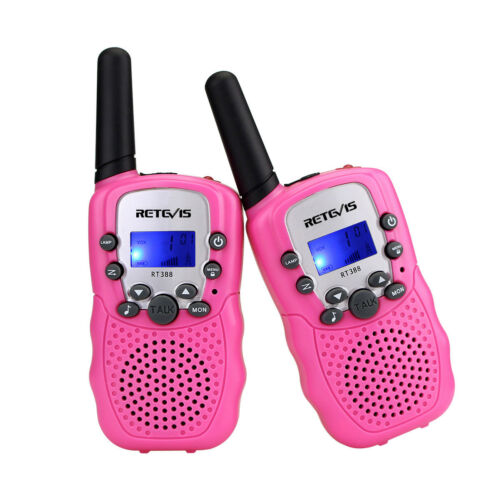 2x Kinder Walkie Talkie Retevis RT388 Set 8 Kanal VOX Kids Funksprechgerät Rosa