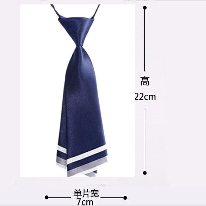 Japanese Ladies Girls Tie Satin Pre-tied Necktie Uniform Shoe Decor Preppy Style