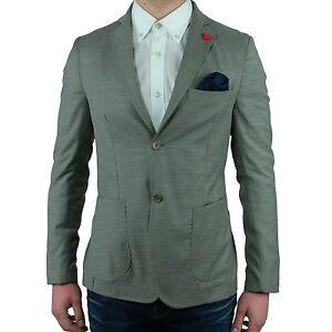 Blazer Pochett Toppe Giacca Format Slim Sportiva Casual Elegante Fit Grigia Uomo AvddfqHx