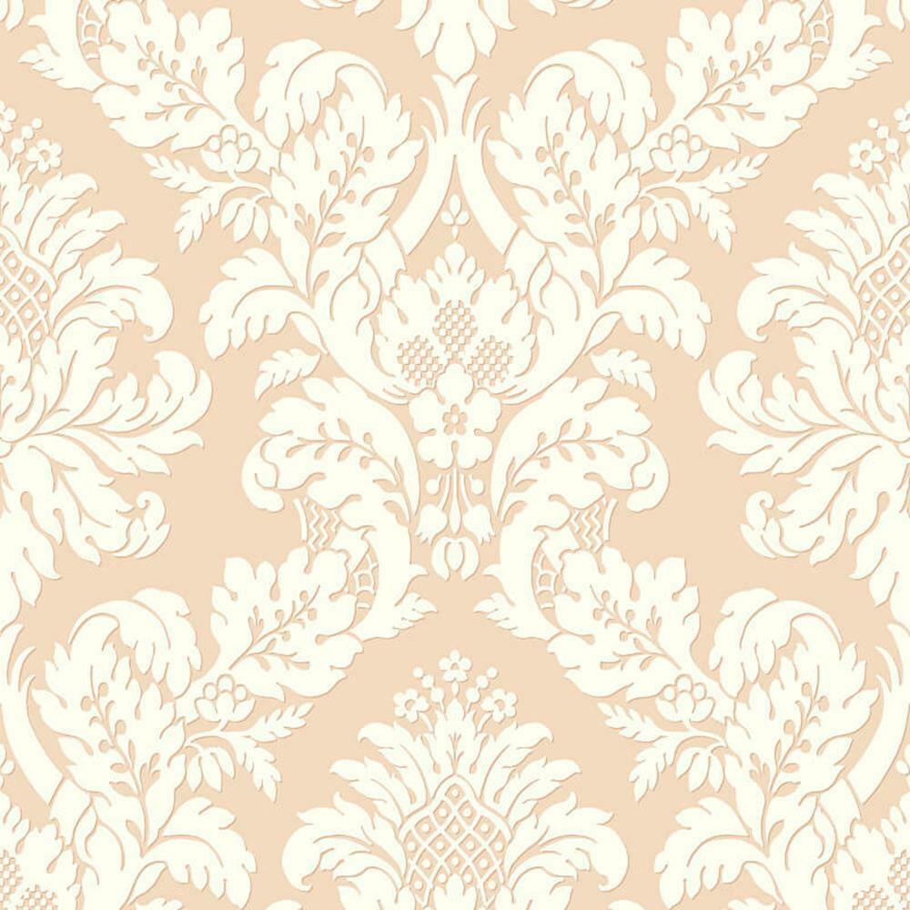UK10456 - Peartree Glitzer Damast Rotgold Tapete