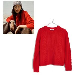 Image is loading Madewell-Cableknit-Pullover-Sweater-Size-Small-Retail-98 bb433c8a5