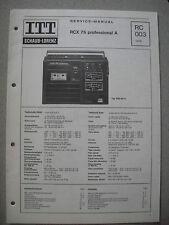 ITT/schaub Lorenz RCX 75 Professional a Service Manual, rc003
