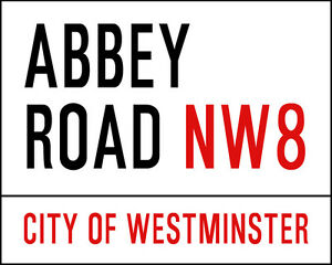 Fiable Abbey Road London - Vintage Advertising Enamel Metal Tin Sign Wall Plaque