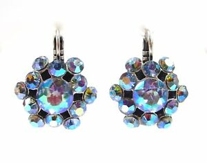 SoHo-Ohrhaenger-mit-vintage-light-sapphire-aurore-boreale-Kristallen-60er-Jahre