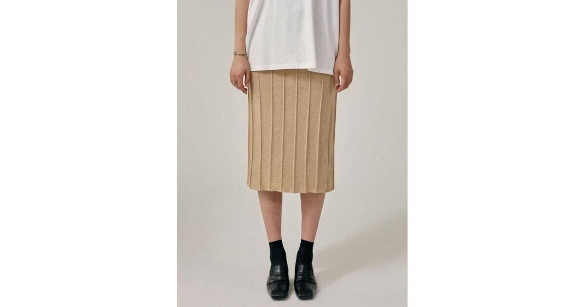 Low Classic - 17FW Jersey Embroidery Skirt- S Beige