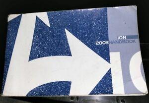 2003 saturn ion owners manual k ebay rh ebay com 2003 saturn ion 2 owners manual 2003 saturn ion service manual