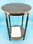 """abington lane two-tiered round end table 18""""x18""""x28""""- distressed pecan #no2461"""