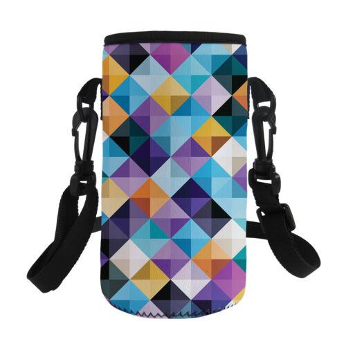 Travel Sport Glass Water Bottle Protective Bag Sleeve with Single Shoulder Strap