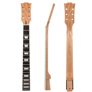 electric guitar neck mahogany diy for gibson les paul lp parts replace 22 frets ebay. Black Bedroom Furniture Sets. Home Design Ideas