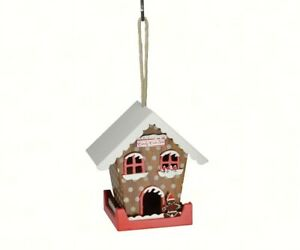 Songbird Essentials 7 inch Wooden Hand-Painted Candy Cane Lane Birdhouse SE1001