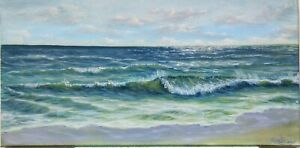Art-20-034-10-034-ocean-oil-painting-waves-beach-cloudy-day-seascape-landscape