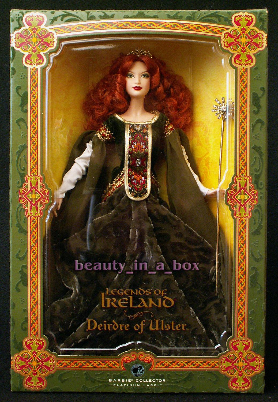 Deirdre de Ulster Muñeca Barbie Platinum Label Leyendas De Irlanda Irlandés Celta ex