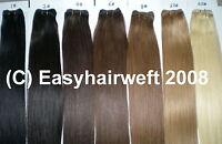 100g Echthaar Tresse Haarverlängerung Hair Weft Extension Glatt In 55 Cm