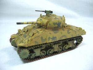 1-72-US-WWII-SHERMAN-M4-Medium-Tank-4th-Armored-Division-Built-Model