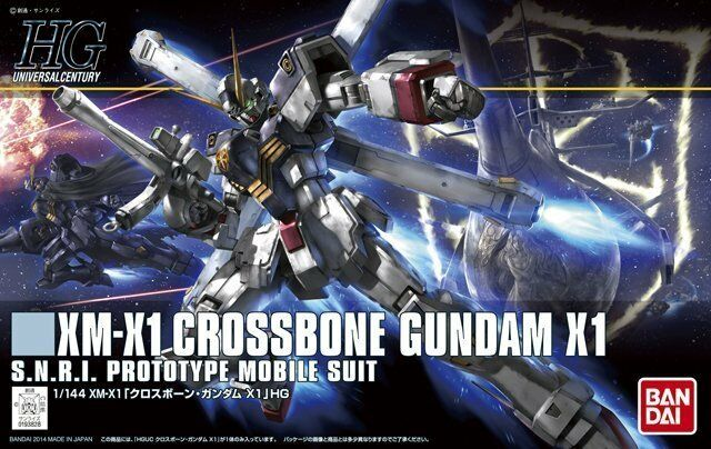 Bandai 1 144 HGUC 187 XM-X1 Crossbone Gundam X1 X1 X1 f932a6