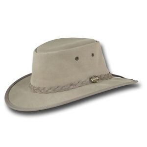 Image is loading Barmah-Hats-Foldaway-Cattle-Suede-Leather-Hat-Item- 7165a3a3057
