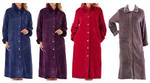 Image is loading Slenderella-Ladies-Faux-Fur-Collar-Dressing-Gown-Womens- cb9c8b089