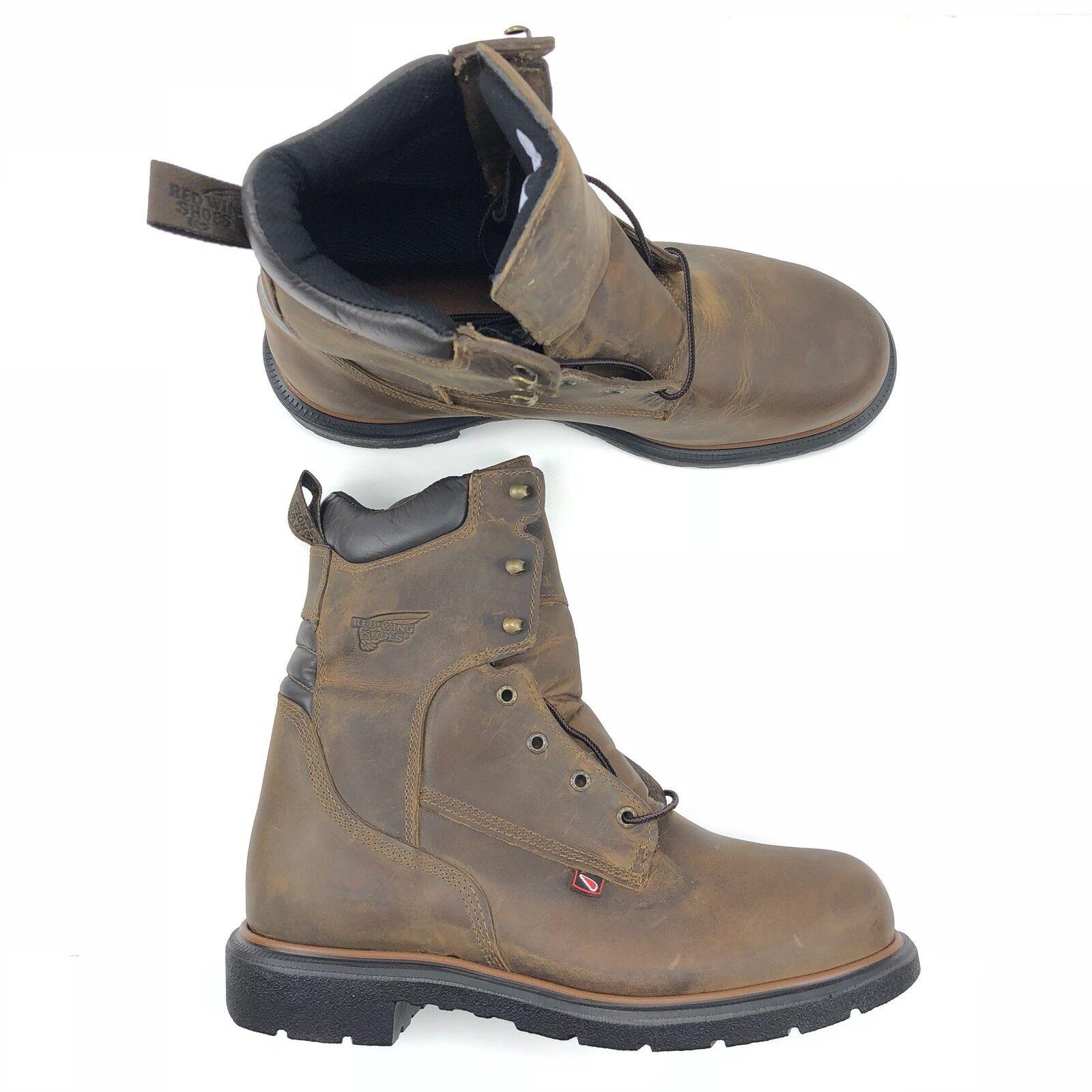 Rosso Wing Men Dynaforce 8 Inch Electrical Hazard Safety avvio Marroneee Leather 903