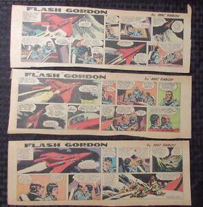 1967 FLASH GORDON Color Newspaper Strips by Mac Raboy LOT ...