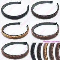 Synthetic Hair Plaited Plait Headband - Womens Girls Alice Hair Head Band - NEW