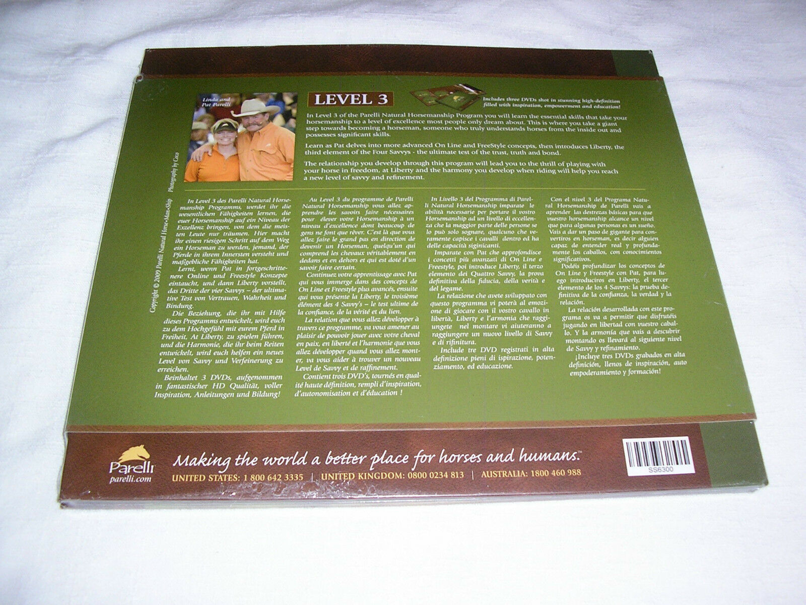 Parelli Pathways Level 3 - NATURAL HORSE MSRP TRAINING  (3 DVD) MSRP HORSE 199 - EXCELLENT 272e48