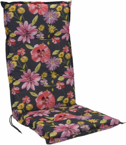 Gartenstuhl Auflage Sitzkissen Stuhlauflage Hochlehner Polster Blumen Design