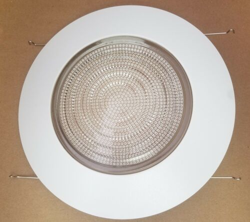 """12 PACK 6/"""" INCH RECESSED CAN LIGHT SHOWER TRIM CLEAR GLASS FRESNEL LENS"""