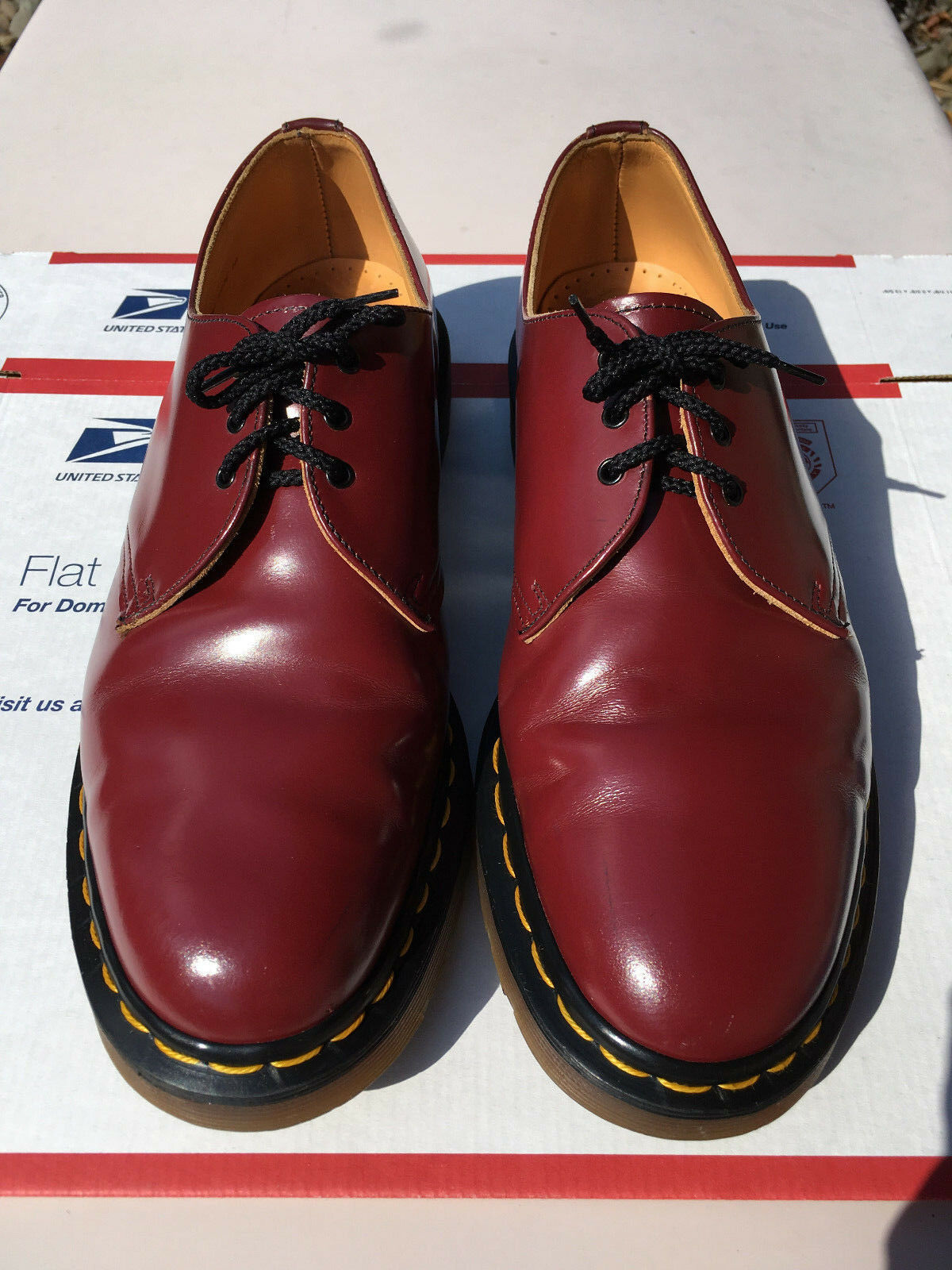 90's Vintage Dr. Martens 11 oxblood oxblood 11 3-eye shoe cherry ROT oxford gibson 1461 doc 604408