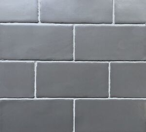3x6 Dark Gray Matte Subway Ceramic Tile Wall and Backsplash Decor ...