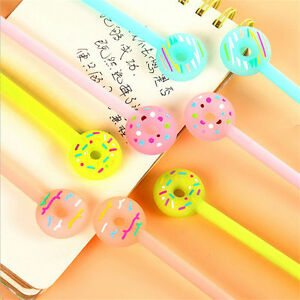 Cute stationery donuts gel pen 038mm black ink pen hot office image is loading cute stationery donuts gel pen 0 38mm black gumiabroncs Images
