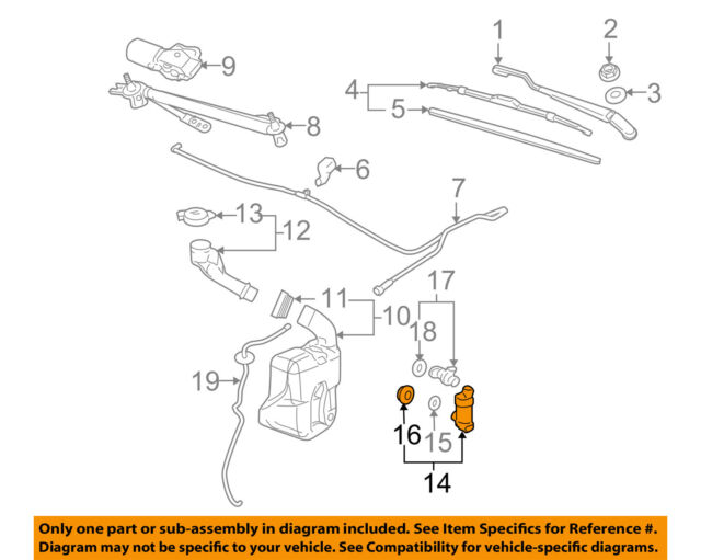 Oem GM Acdelco Windshield Washer Pump 15284528 Ebay. GM Oem Windshield Window Wiperfront Washer Pump 15284528. Chevrolet. 1997 Chevrolet Suburban Windshield Washers Systems Diagrams At Scoala.co