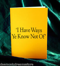 I HAVE WAYS YE KNOW NOT OF.  Finbarr Occult  Magick.  White magic. Grimoire