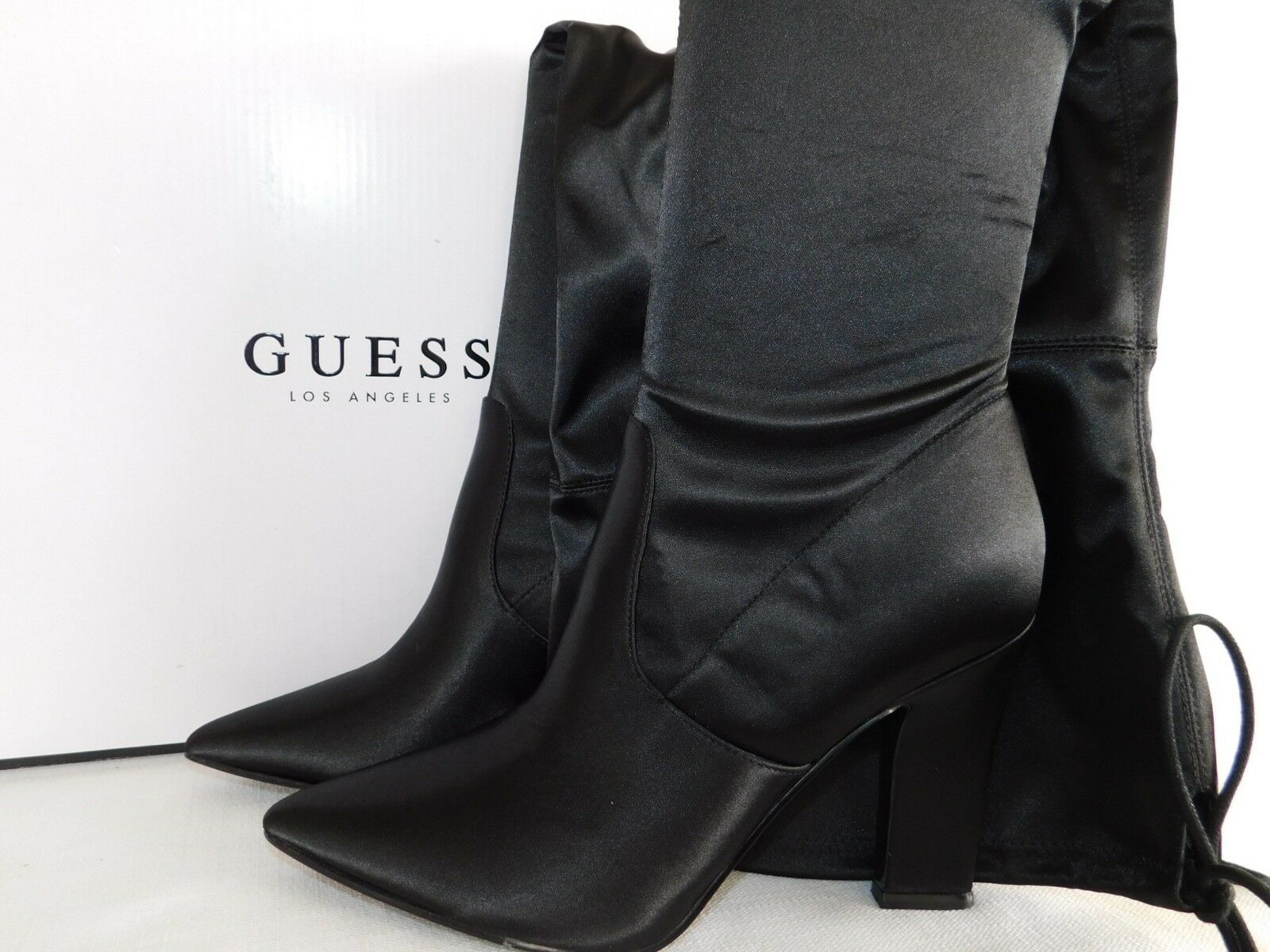NEW WOMENS SIZE 6 BLACK GUESS ANGELEY OVER THE KNEE HIGH BOOTS PARTY BLOCK HEEL