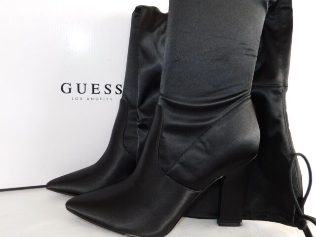 78756c14cf NEW WOMENS Sz 6.5 BLACK GUESS ANGELEY OVER THE KNEE HIGH BOOTS PARTY BLOCK  HEEL