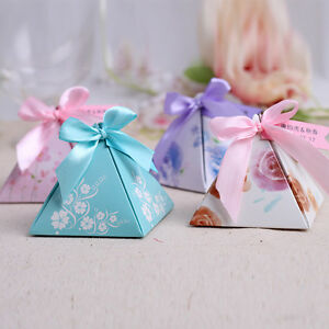 Wedding Gift Bags Boxes : ... Wedding-Favor-Gift-Candy-Box-Creative-Chocolate-Box-Pyramid-Favor-Bags