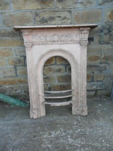 Antique Style Cast Iron Fireplace Open Fire Surround Fire