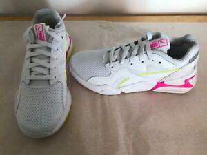 Details about PUMA Nova Mesh White blazing yellow Trainers Lace Up Shoes uk  5 eur 38 369655 07