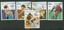 Briefmarken Laos 1990 Olympia Barcelona Mi.Nr.1193-97