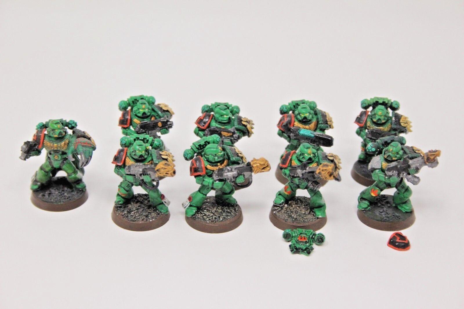 Warhammer space marines salamander tatical marines gut gemalt