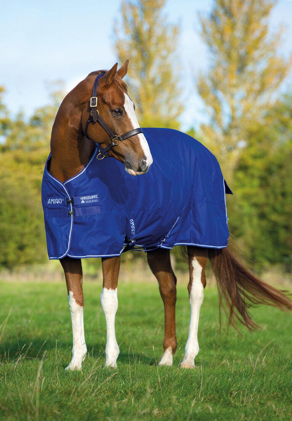Horseware Amigo HERO 900d TURNOUT Rug Lined Lightweight Lite 0g Blau 5'6 -7'0