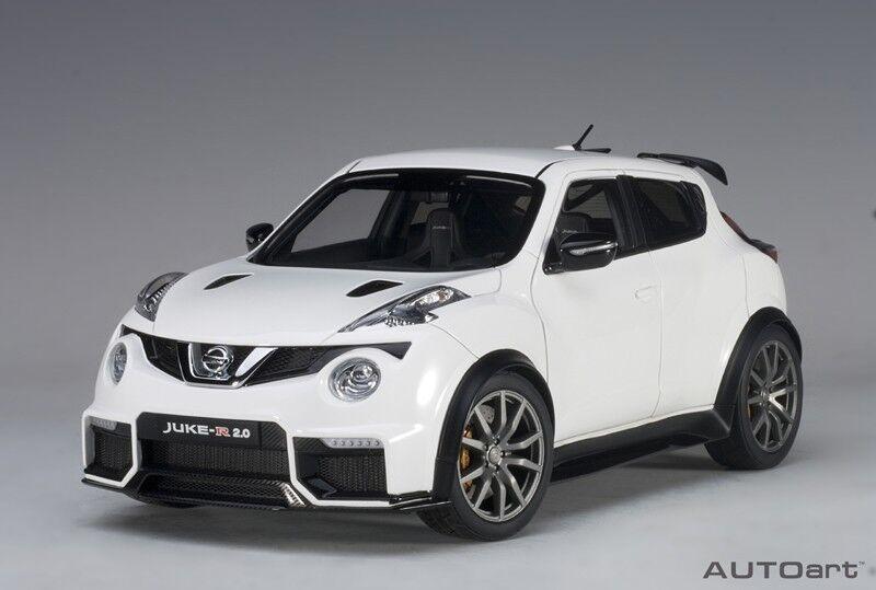 Autoart 77456 - 1/18 nissan juke R 2.0  2016  - bianca -NUOVO